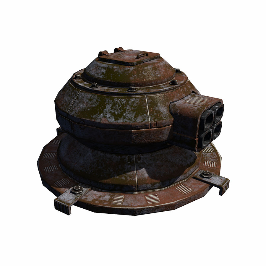 Sci Fi Turret royalty-free 3d model - Preview no. 5