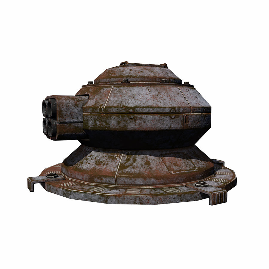 Sci Fi Turret royalty-free 3d model - Preview no. 6