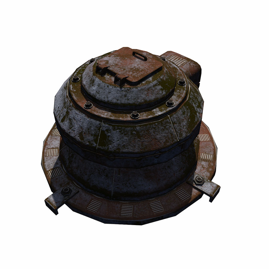 Sci Fi Turret royalty-free 3d model - Preview no. 4
