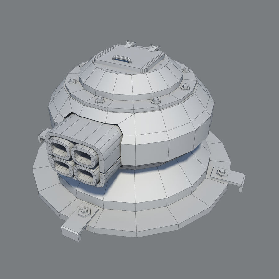 Sci Fi Turret royalty-free 3d model - Preview no. 8