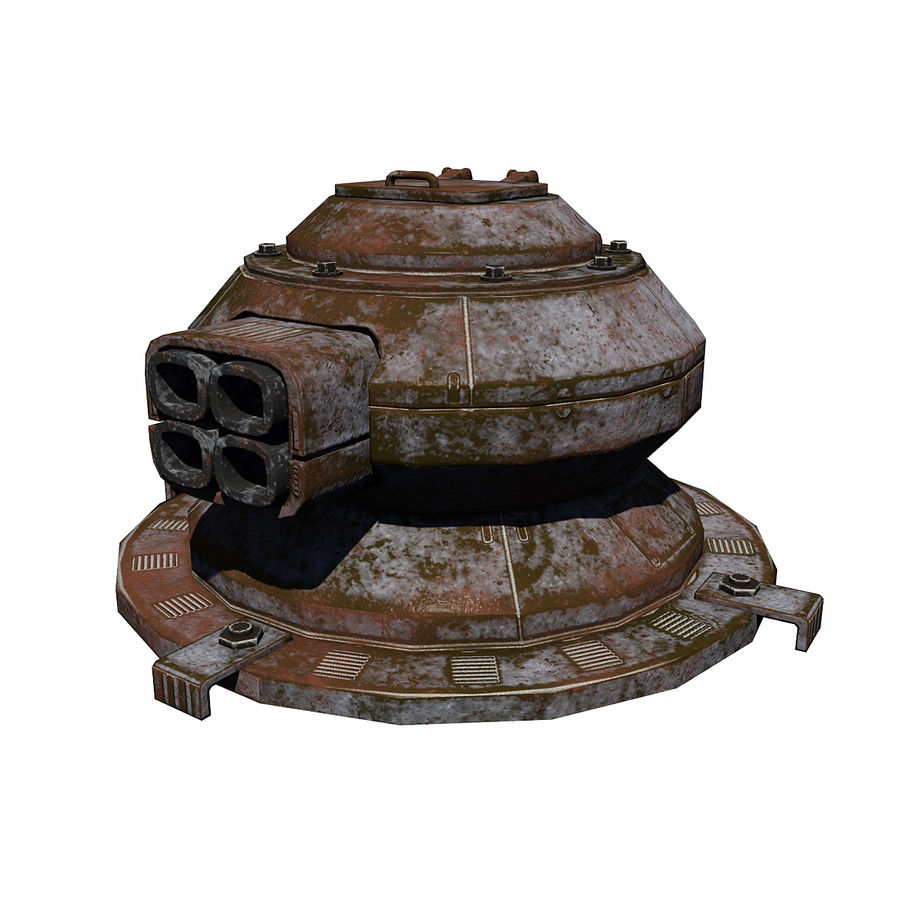 Sci Fi Turret royalty-free 3d model - Preview no. 2