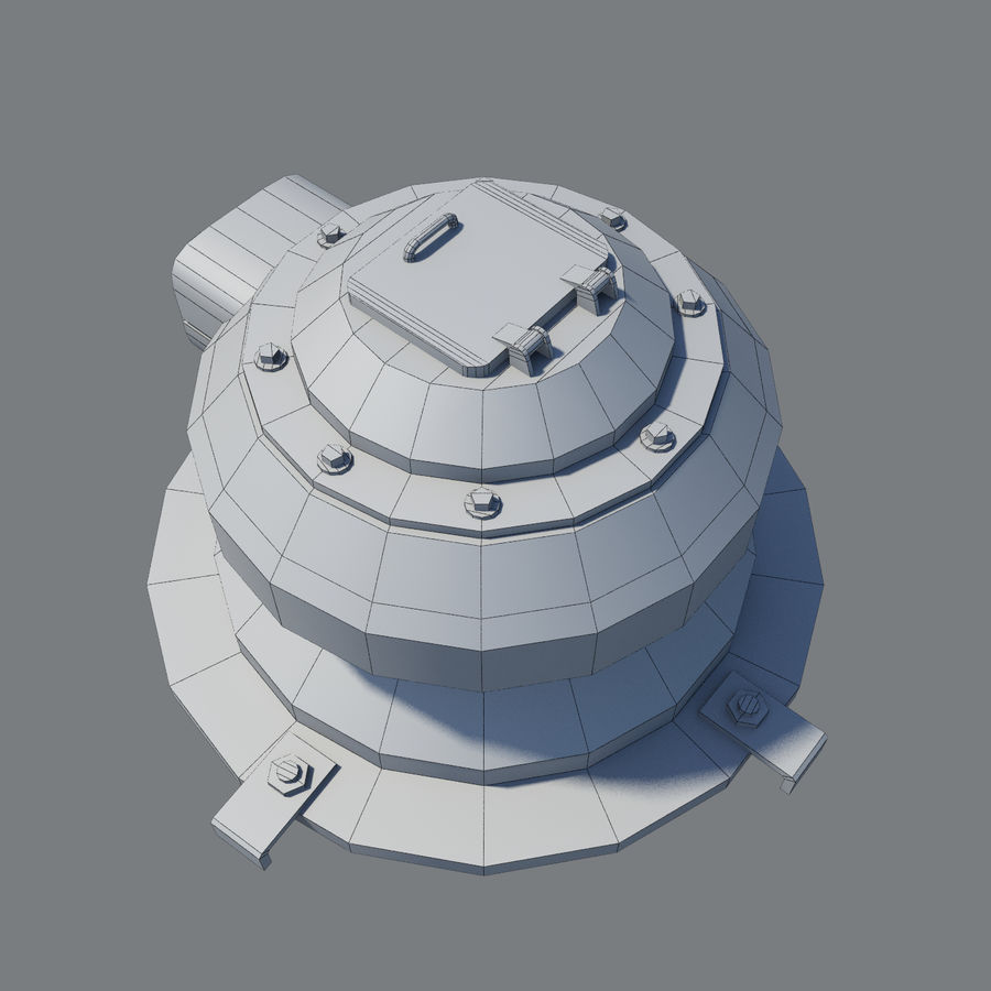 Sci Fi Turret royalty-free 3d model - Preview no. 9