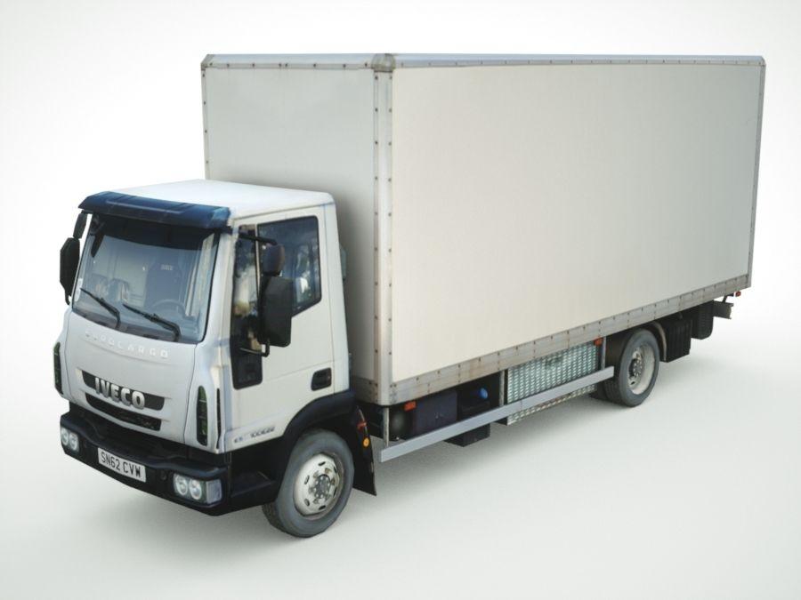 Iveco Eurocargo cargo BOX royalty-free 3d model - Preview no. 1