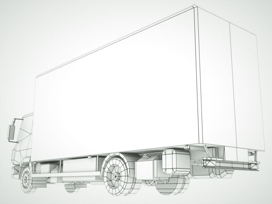 Iveco Eurocargo cargo BOX royalty-free 3d model - Preview no. 14