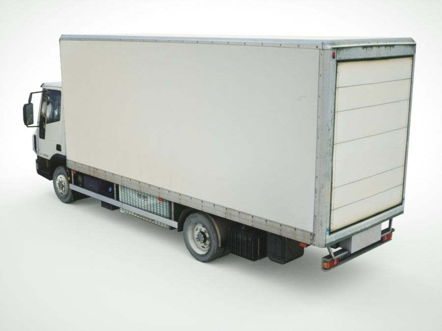 Iveco Eurocargo lastbox royalty-free 3d model - Preview no. 2