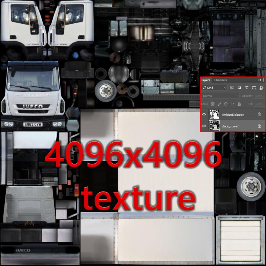依维柯Eurocargo货运箱 royalty-free 3d model - Preview no. 10