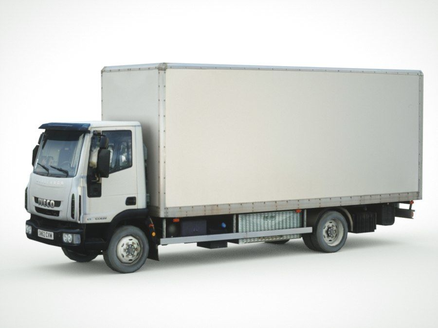 Iveco Eurocargo lastbox royalty-free 3d model - Preview no. 7