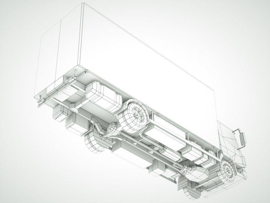 依维柯Eurocargo货运箱 royalty-free 3d model - Preview no. 11