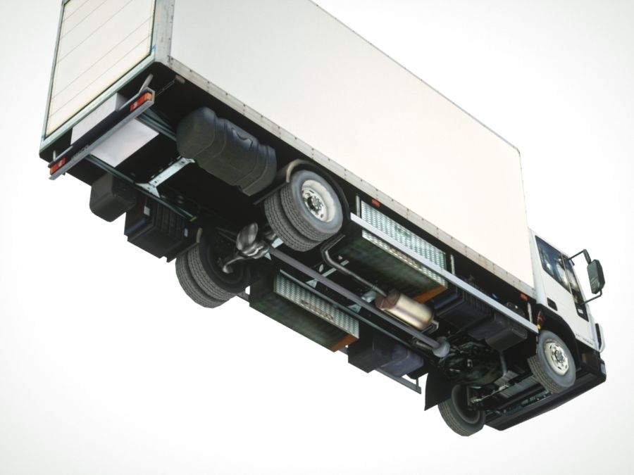 Iveco Eurocargo cargo BOX royalty-free 3d model - Preview no. 9