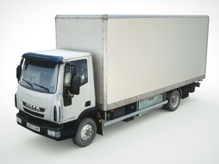 Iveco Eurocargo lastbox royalty-free 3d model - Preview no. 1