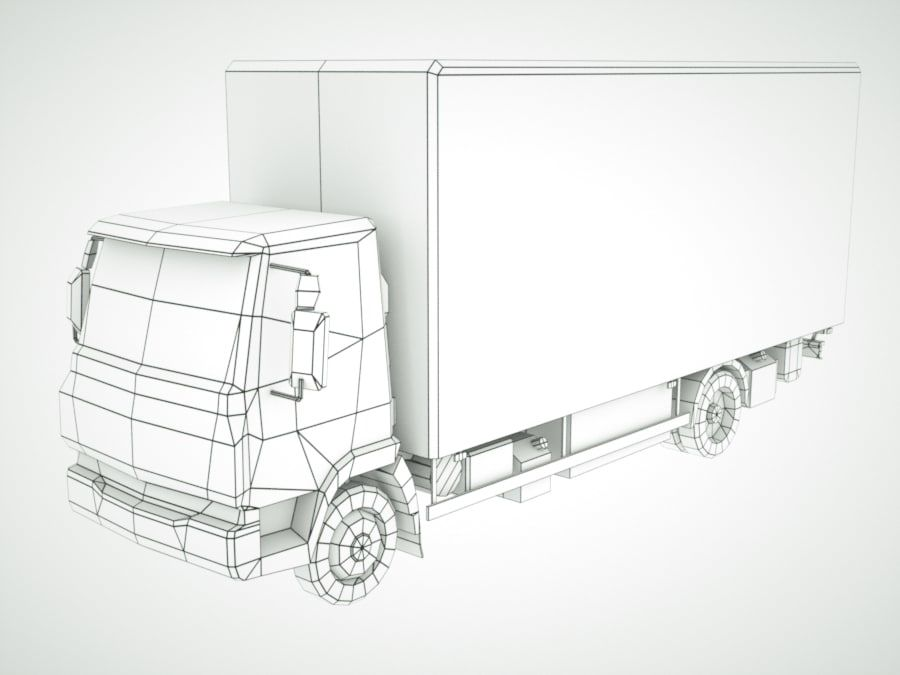 Iveco Eurocargo lastbox royalty-free 3d model - Preview no. 12
