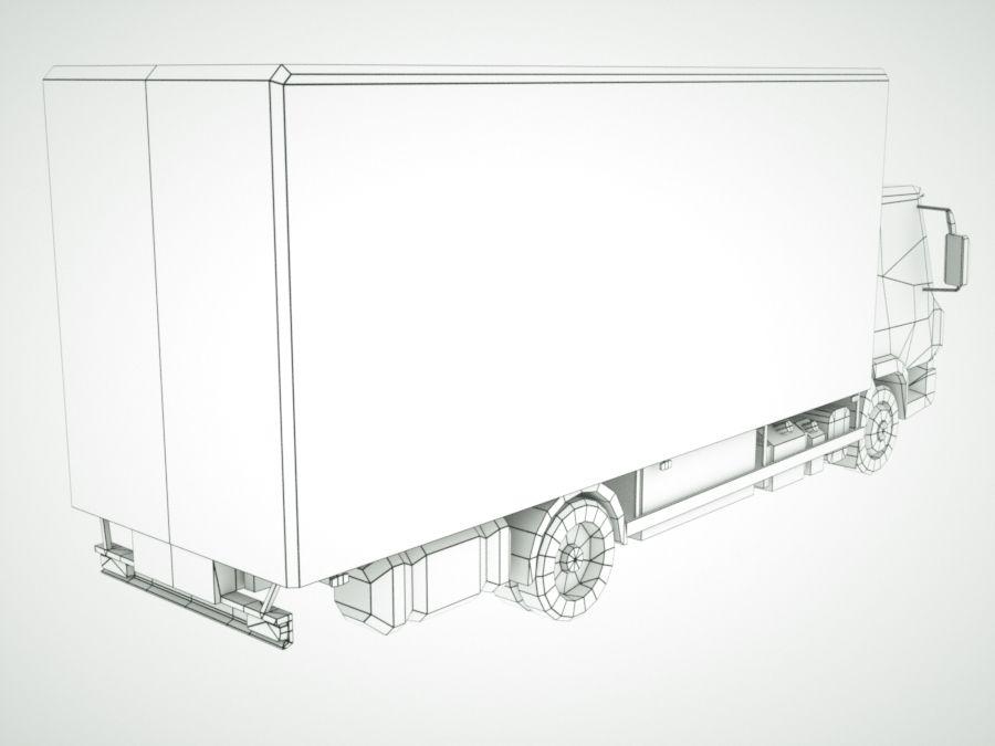 Iveco Eurocargo cargo BOX royalty-free 3d model - Preview no. 13