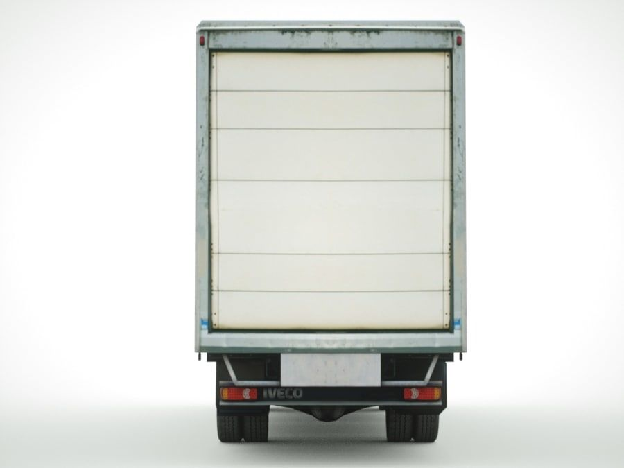 Iveco Eurocargo lastbox royalty-free 3d model - Preview no. 5