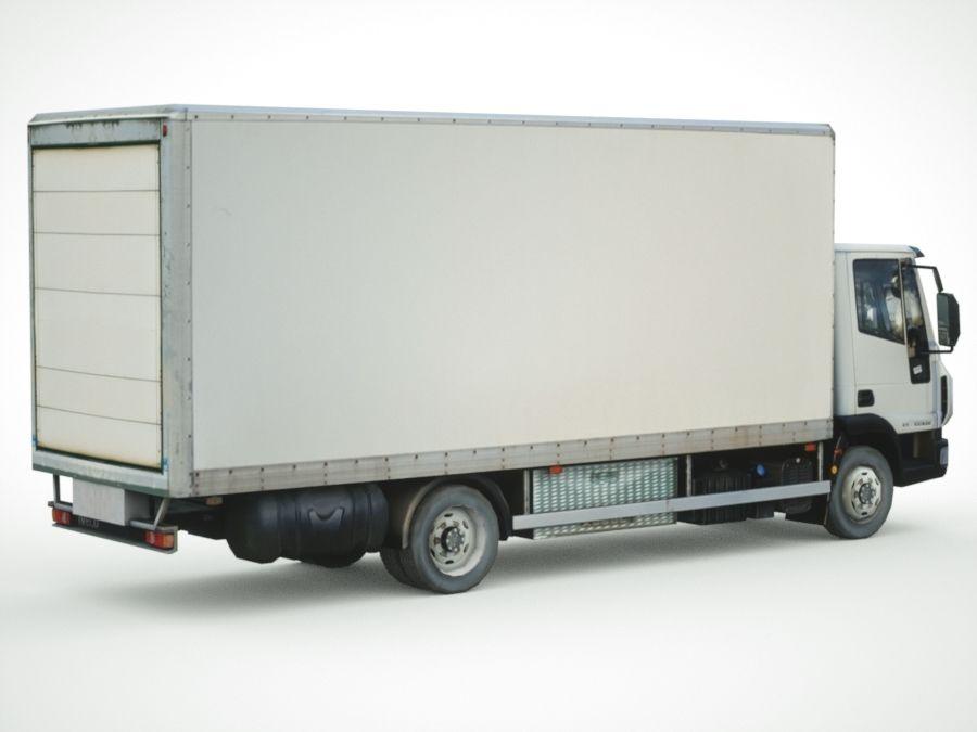 Iveco Eurocargo cargo BOX royalty-free 3d model - Preview no. 8