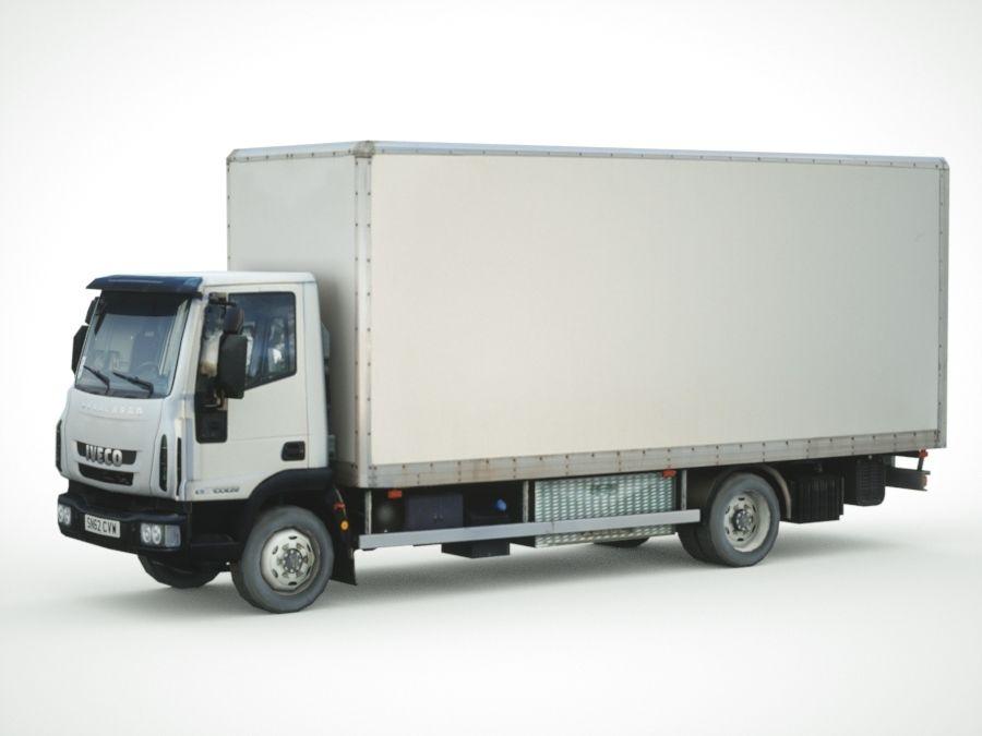 Iveco Eurocargo cargo BOX royalty-free 3d model - Preview no. 7