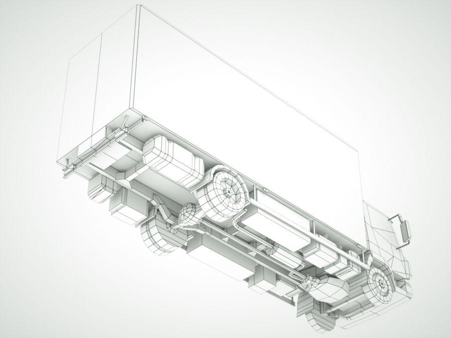 Iveco Eurocargo cargo BOX royalty-free 3d model - Preview no. 11