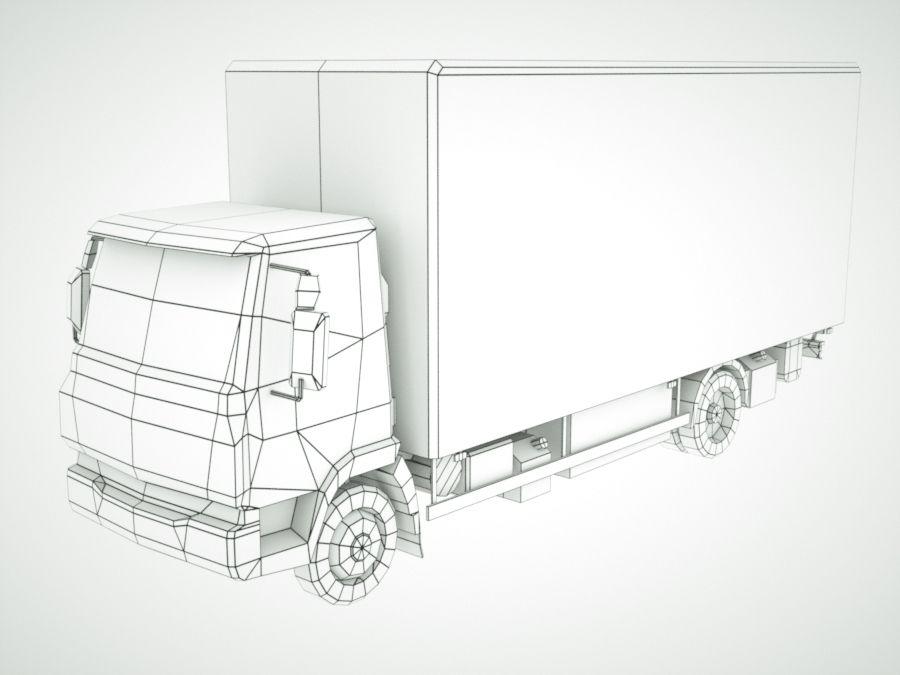 Iveco Eurocargo cargo BOX royalty-free 3d model - Preview no. 12