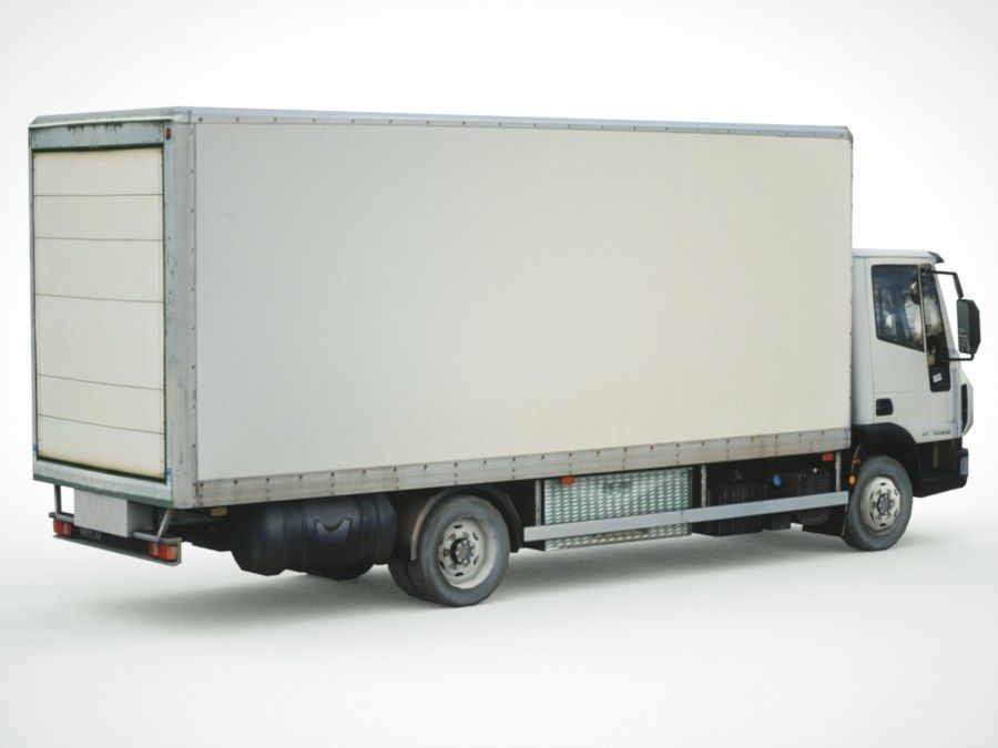 Iveco Eurocargo lastbox royalty-free 3d model - Preview no. 8