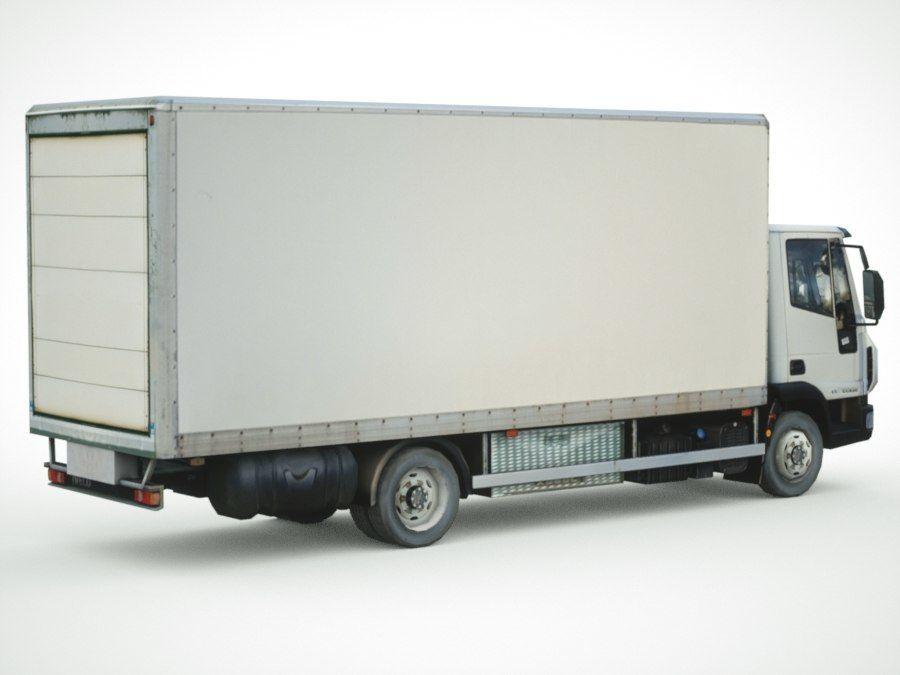 依维柯Eurocargo货运箱 royalty-free 3d model - Preview no. 8