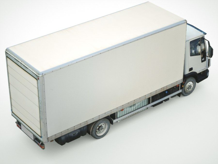 Iveco Eurocargo lastbox royalty-free 3d model - Preview no. 4