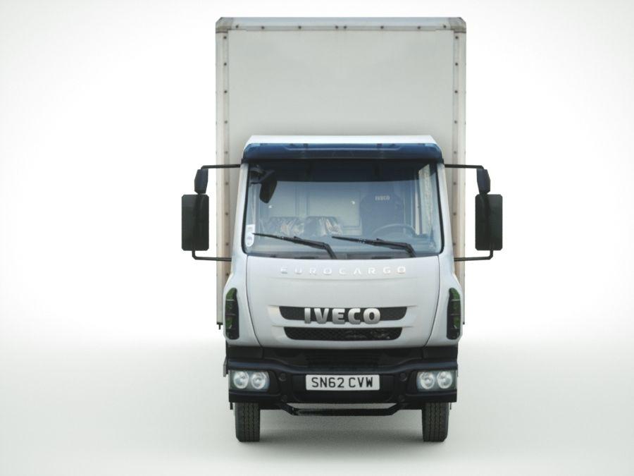 Iveco Eurocargo cargo BOX royalty-free 3d model - Preview no. 6