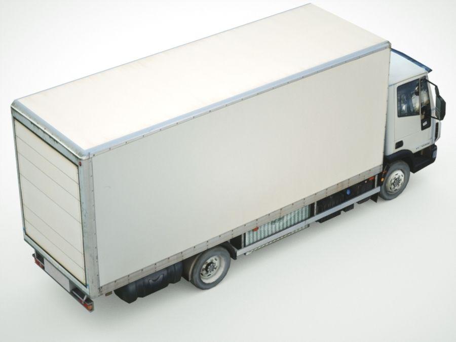 Iveco Eurocargo cargo BOX royalty-free 3d model - Preview no. 4