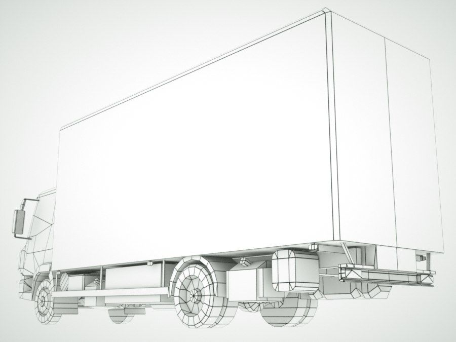 Iveco Eurocargo lastbox royalty-free 3d model - Preview no. 14