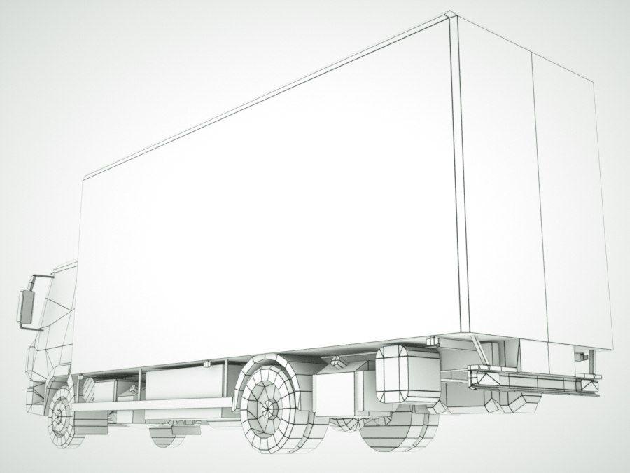 依维柯Eurocargo货运箱 royalty-free 3d model - Preview no. 14
