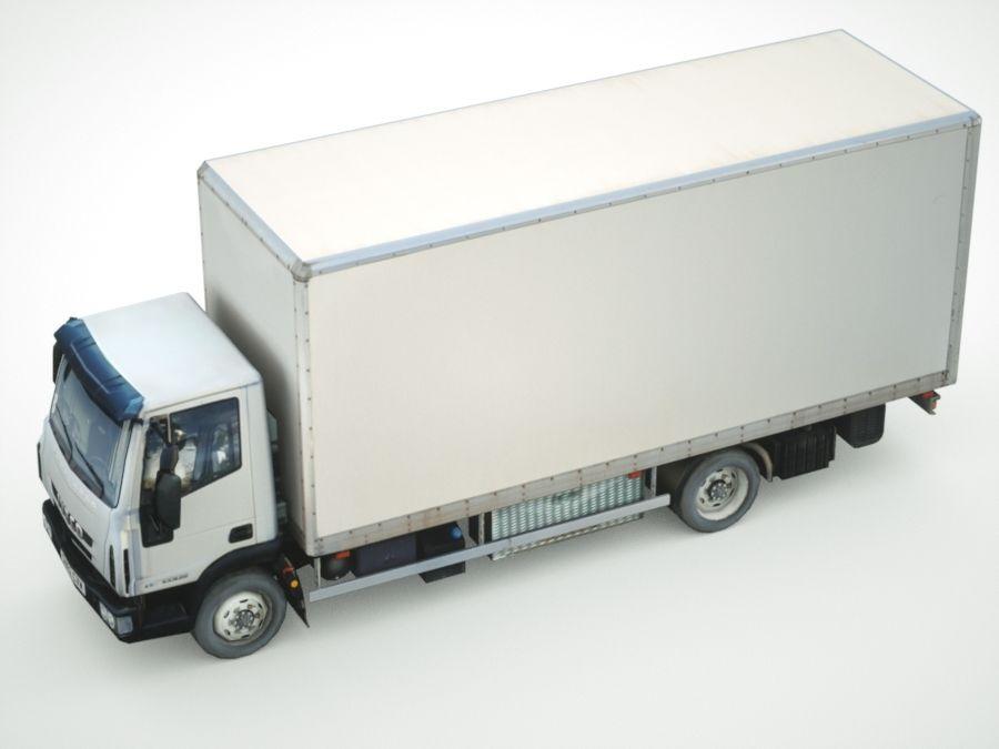 Iveco Eurocargo cargo BOX royalty-free 3d model - Preview no. 3