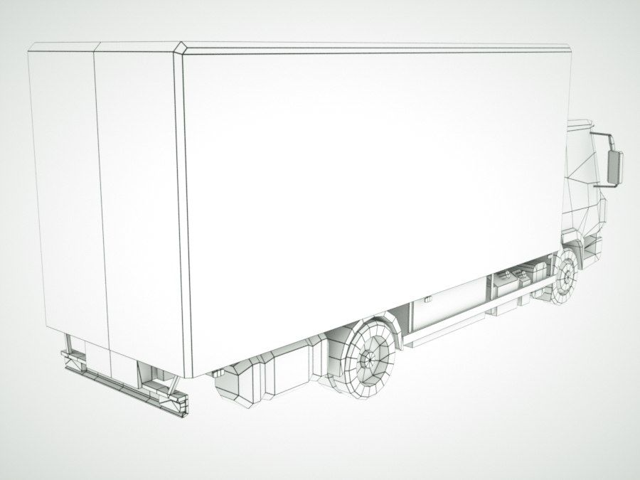 Iveco Eurocargo lastbox royalty-free 3d model - Preview no. 13