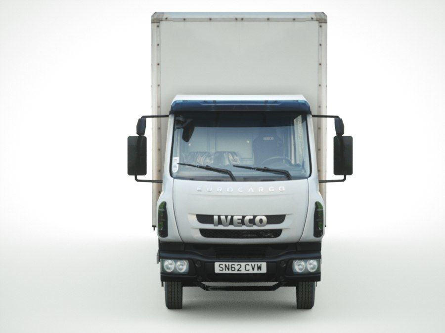 Iveco Eurocargo lastbox royalty-free 3d model - Preview no. 6