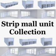 インテリアとストリップモールストアユニットコレクション 3d model