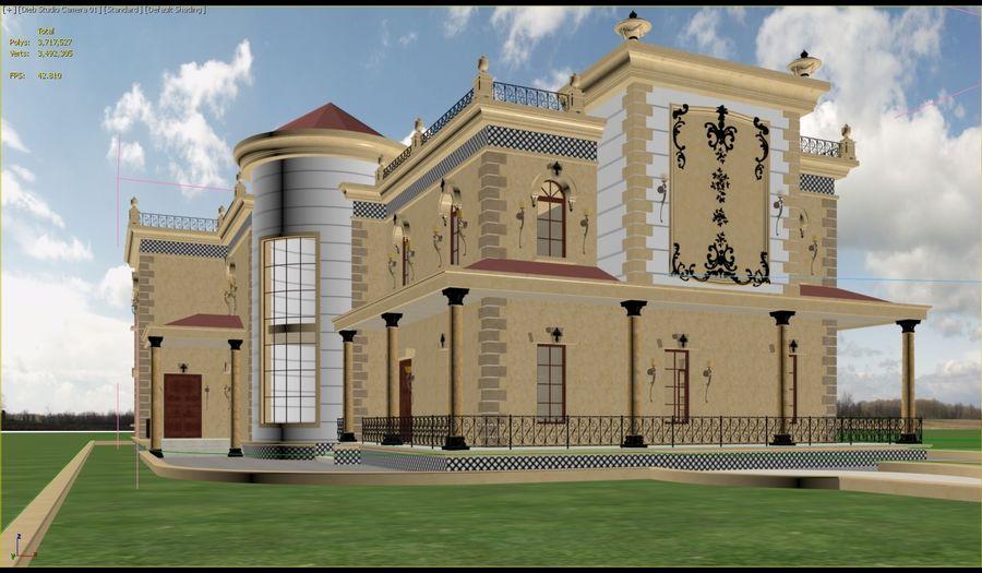 Classic Villa - B1 3D Model $30 -  max - Free3D