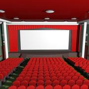 Cartoon Movie Theatre 3d model