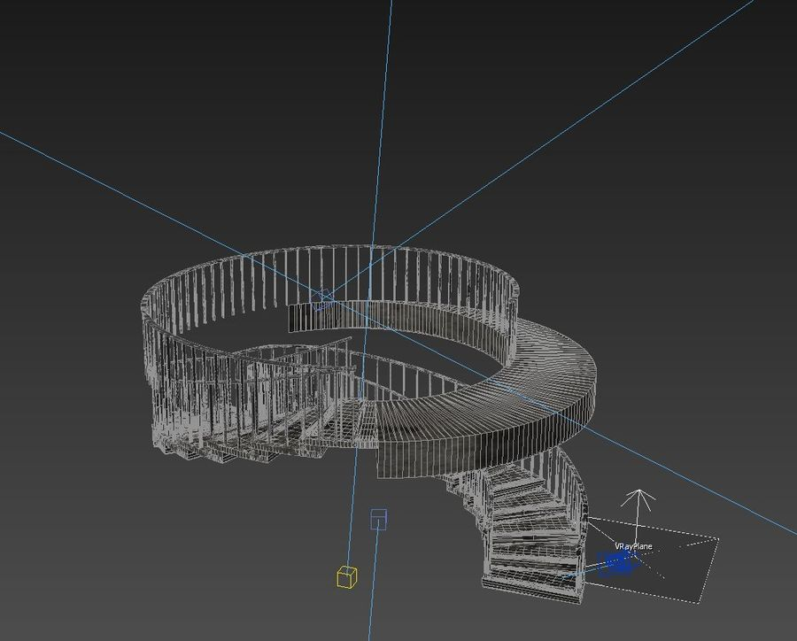 Spiraltrappa royalty-free 3d model - Preview no. 5
