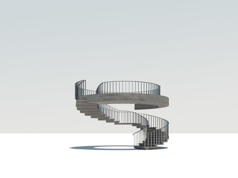 Spiraltrappa royalty-free 3d model - Preview no. 2
