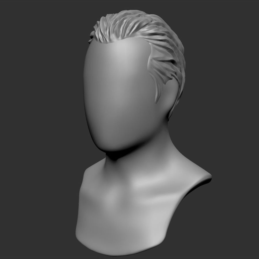 Man hairstyle royalty-free 3d model - Preview no. 8