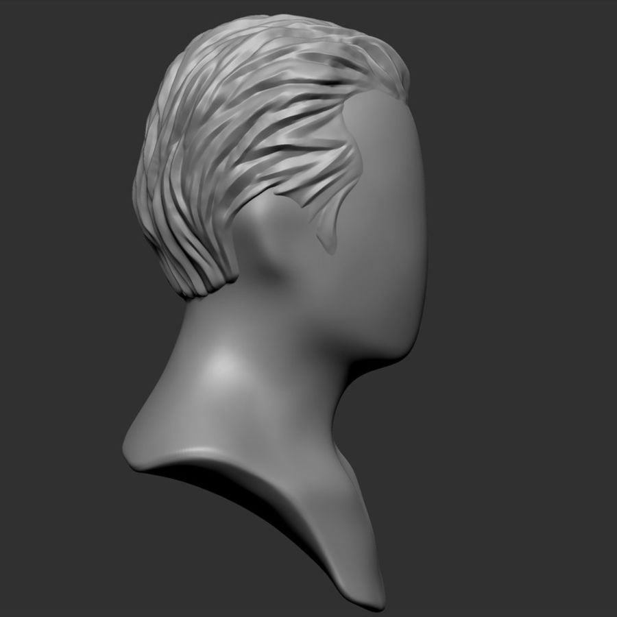 Man hairstyle royalty-free 3d model - Preview no. 14
