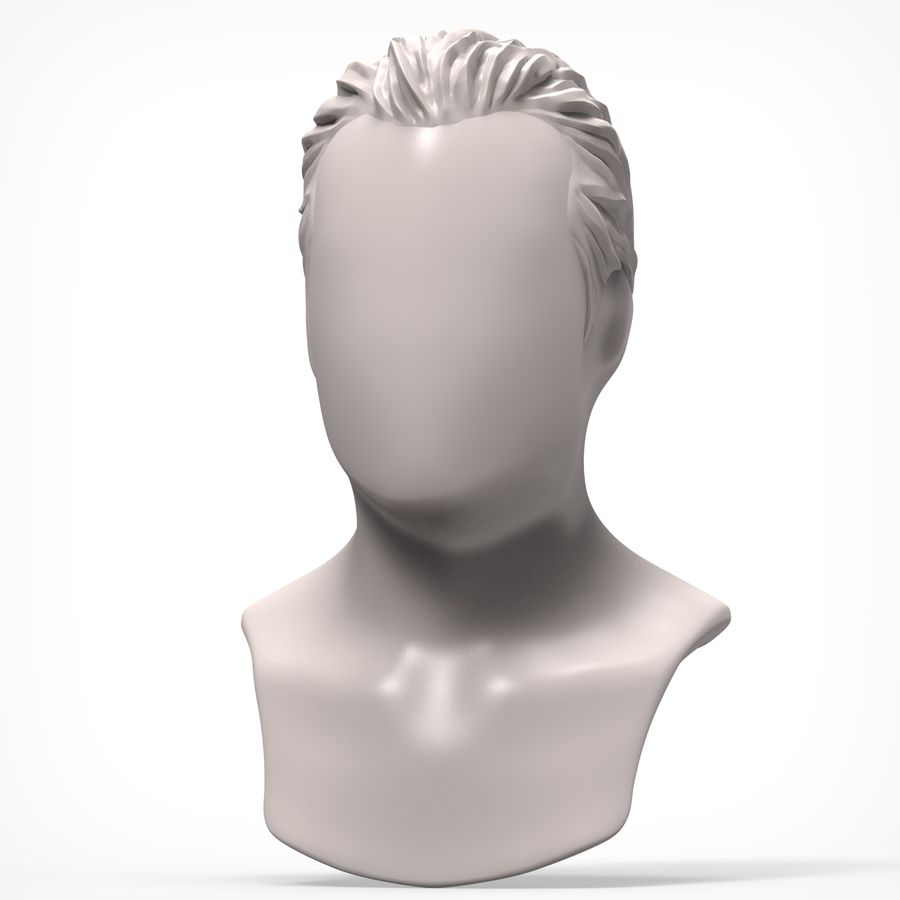 Man hairstyle royalty-free 3d model - Preview no. 2