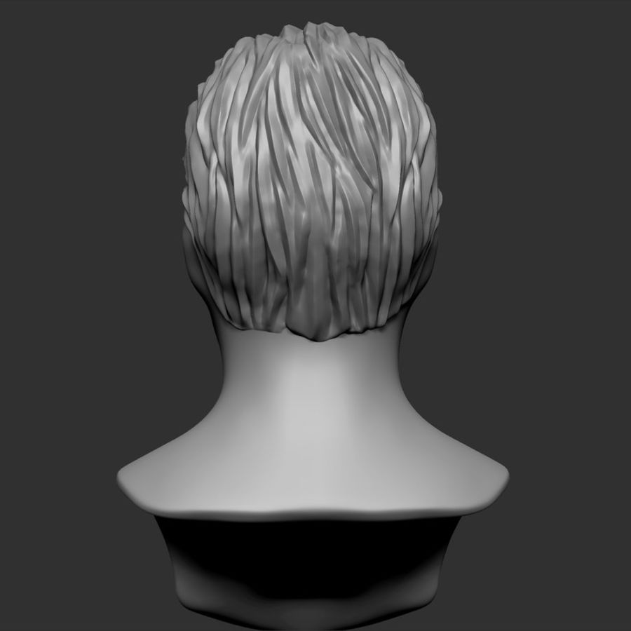 Man hairstyle royalty-free 3d model - Preview no. 12