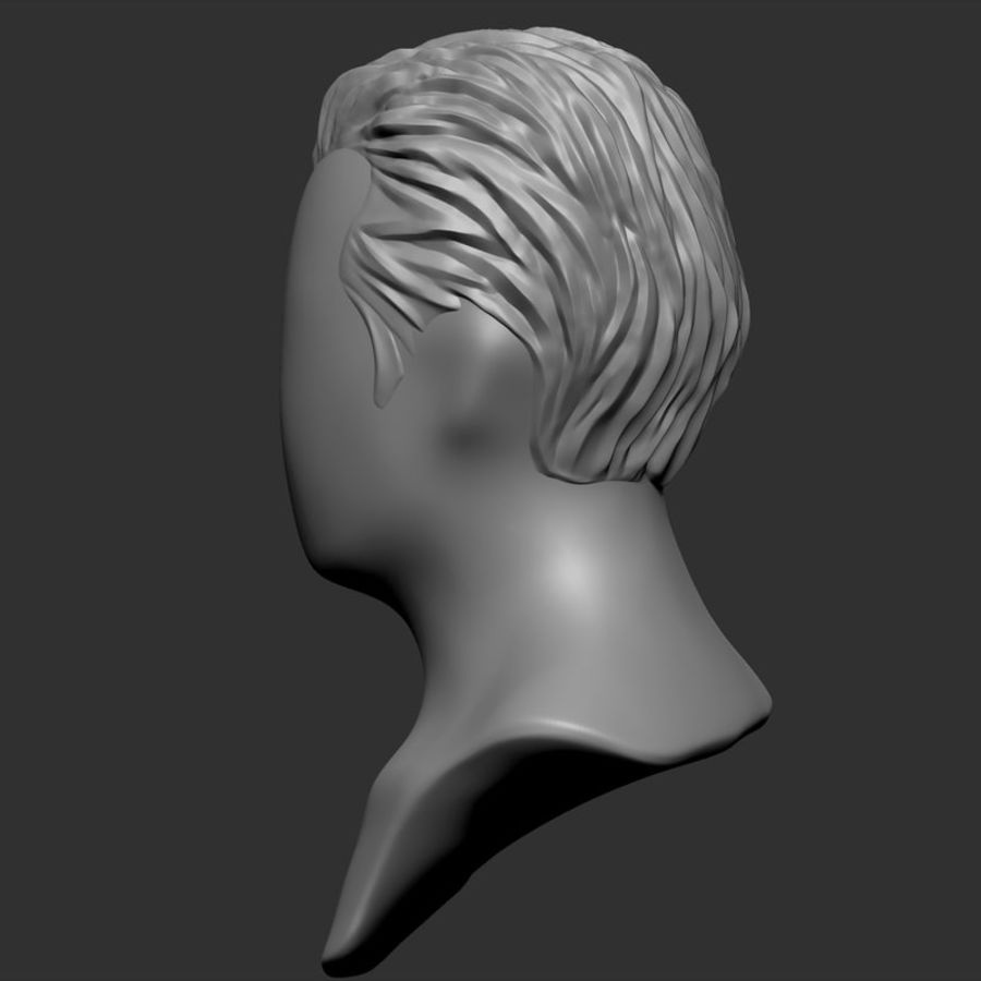Man hairstyle royalty-free 3d model - Preview no. 10