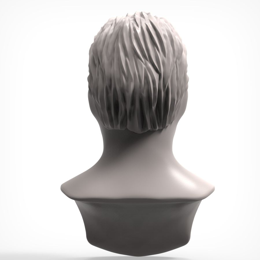 Man hairstyle royalty-free 3d model - Preview no. 5