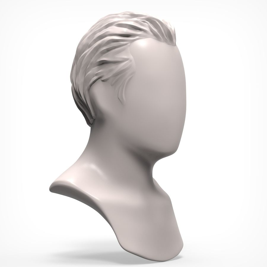 Man hairstyle royalty-free 3d model - Preview no. 3