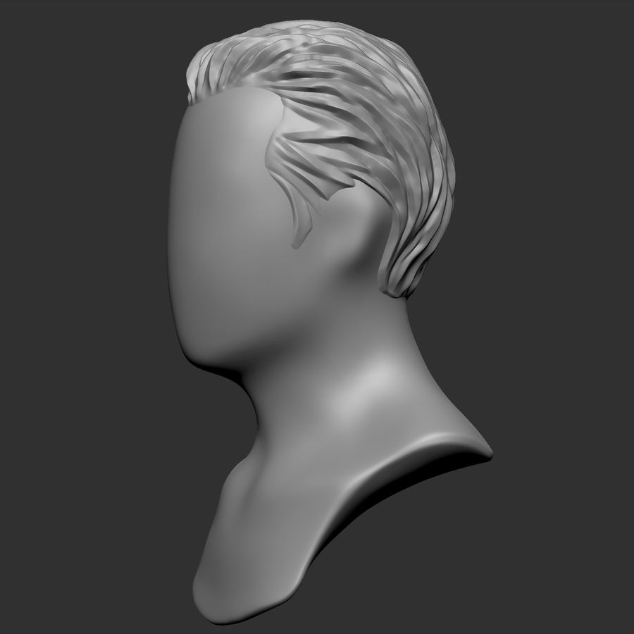 Man hairstyle royalty-free 3d model - Preview no. 9