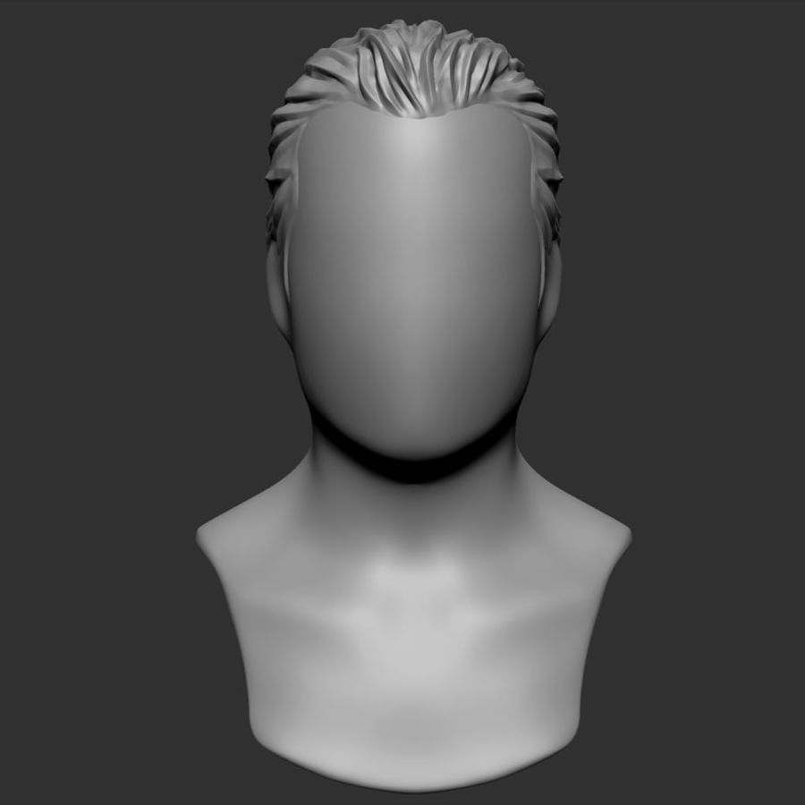 Man hairstyle royalty-free 3d model - Preview no. 6