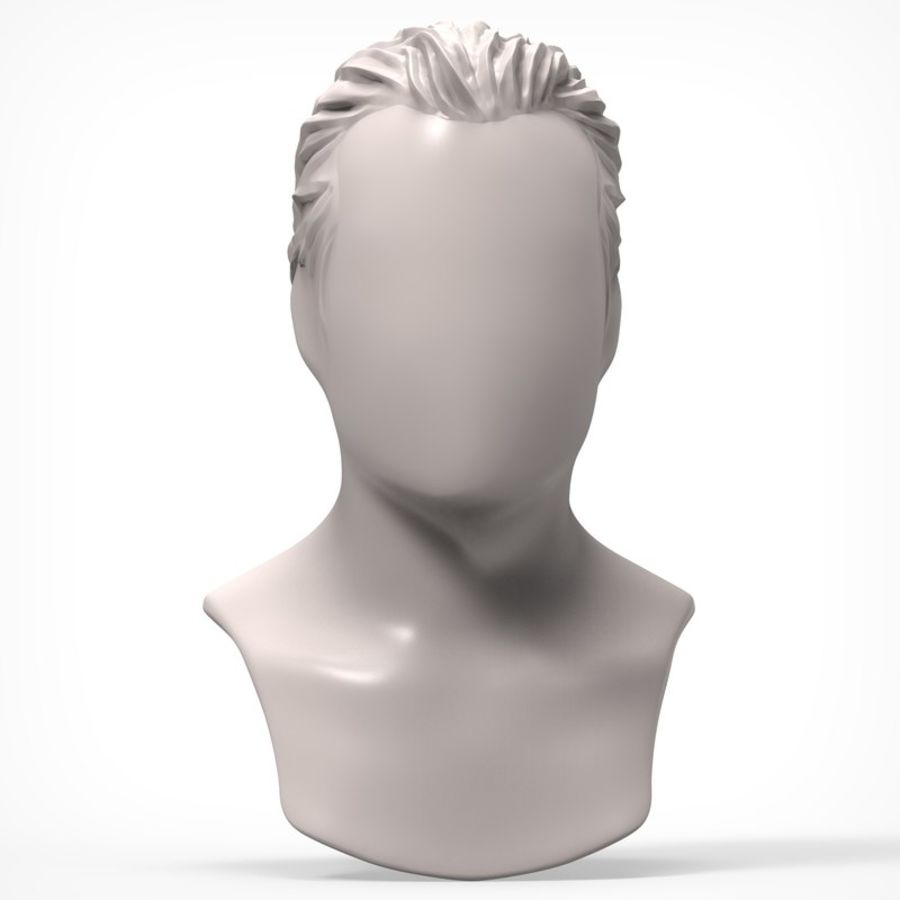 Man hairstyle royalty-free 3d model - Preview no. 1