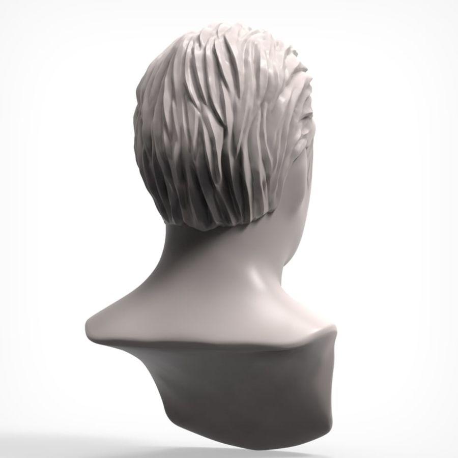 Man hairstyle royalty-free 3d model - Preview no. 4