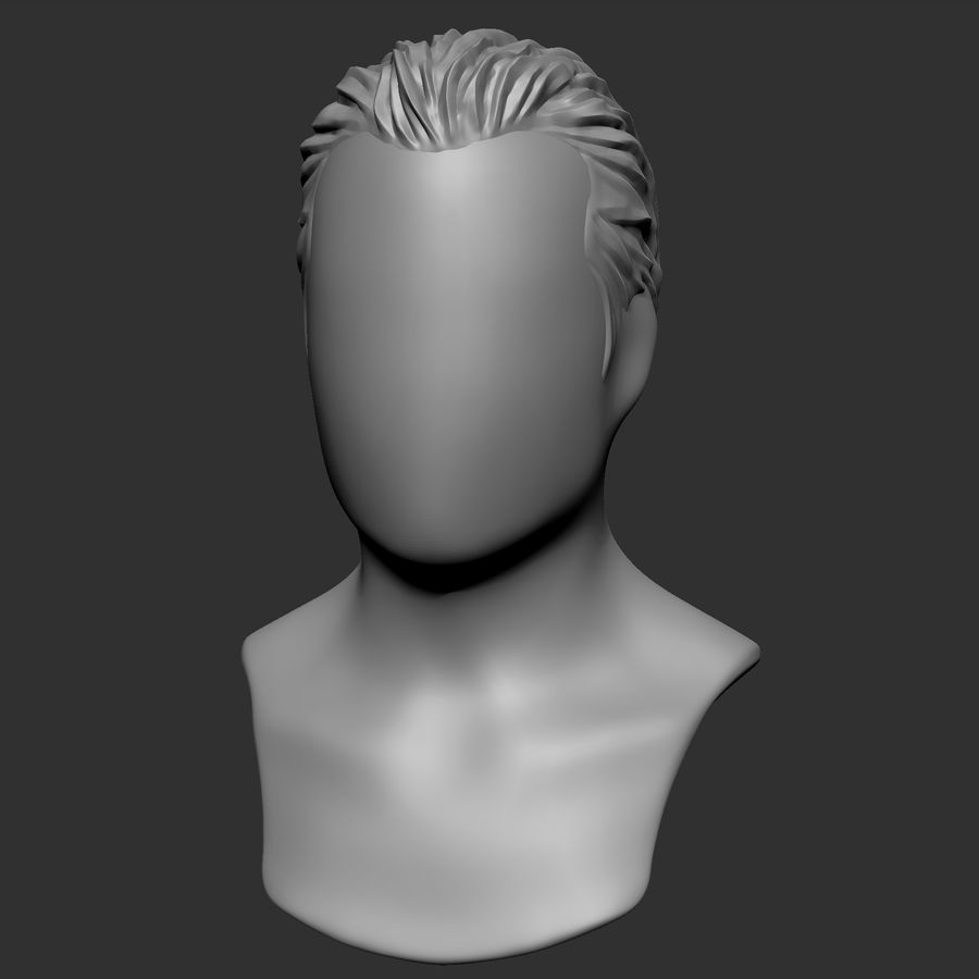 Man hairstyle royalty-free 3d model - Preview no. 7