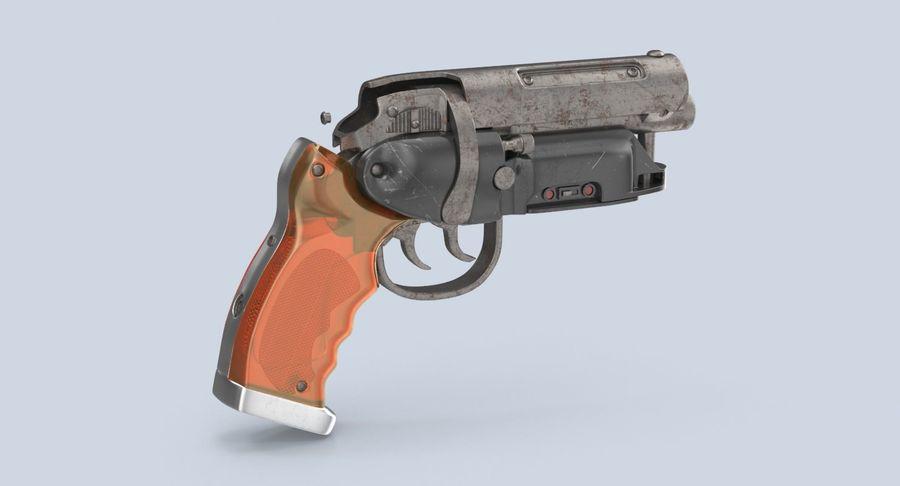 Blade Runner Deckard Gun royalty-free 3d model - Preview no. 6