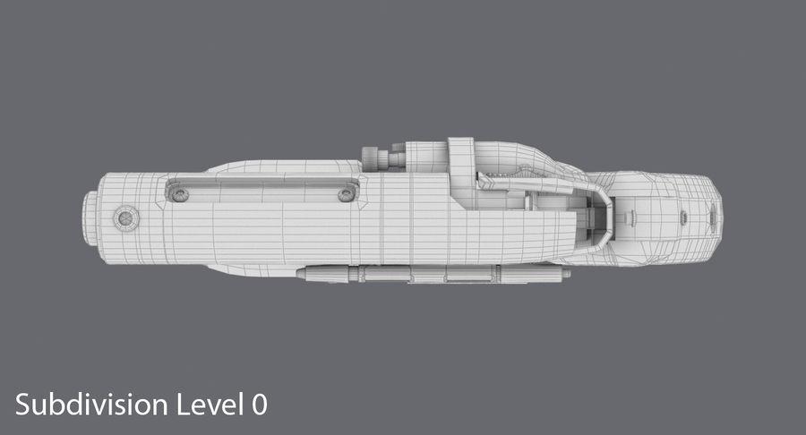 Blade Runner Deckard Gun royalty-free 3d model - Preview no. 16